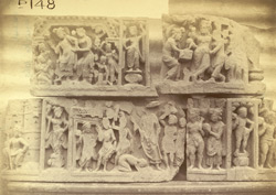 Buddhist sculptures excavated at Lorian Tangai, Peshawar District: small friezes with scenes from the life of Buddha 10031063